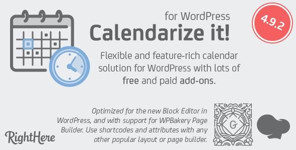 Wordpress Event Calendar Plugin by Righthere