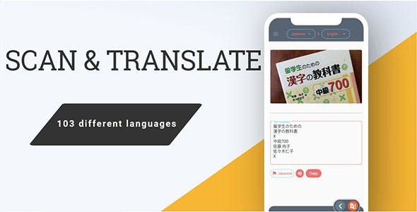 Flutter Scan and translate