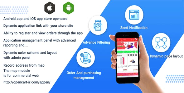 Opencart mobile app ionic with source code and opencart module for iOS and android