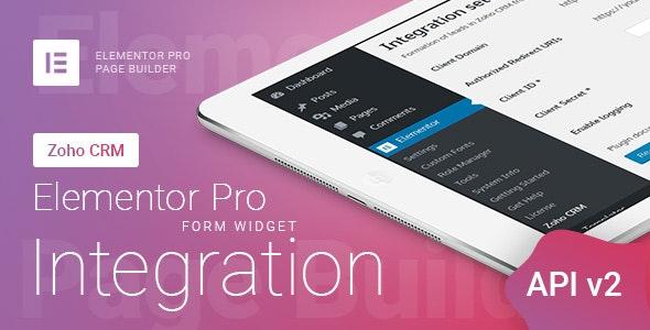 Elementor Pro Form Widget - Zoho CRM - Integration - CodeCanyon Item for Sale