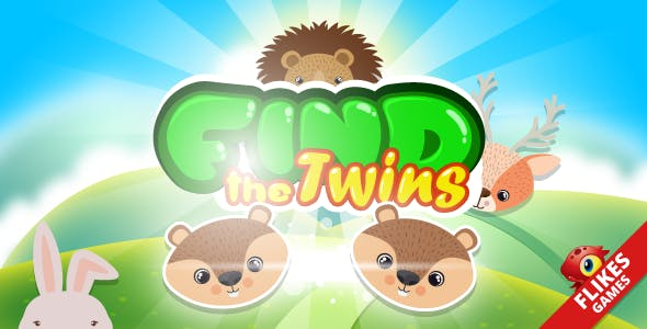 Find the twins - HTML5 game, Construct 2, capx, mobile control, AdSense