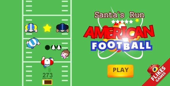 American football: Santa`s run - Construct 2, HTML5, responsive, mobile, AdSense - CodeCanyon Item for Sale