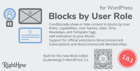 Blocks by User Role for WordPress - CodeCanyon Item for Sale