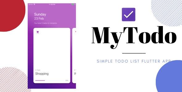 MyTodo- Todo List Flutter App - CodeCanyon Item for Sale