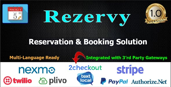 Rezervy - Online Appointment & Reservation Booking Calendar