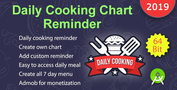 Daily Cooking Chart Reminder - CodeCanyon Item for Sale