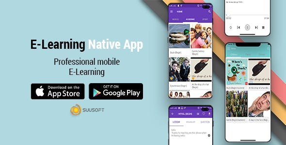 E-Learning Android, IOS Native App