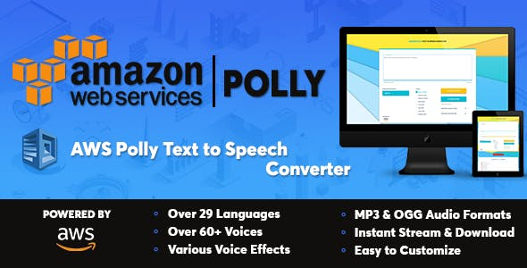 AWS Amazon Polly Text to Speech Converter