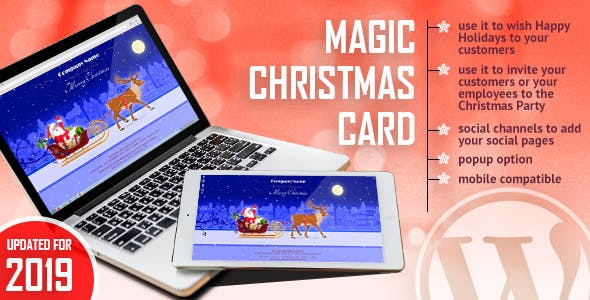 Magic Christmas Card With Animation - WordPress Plugin