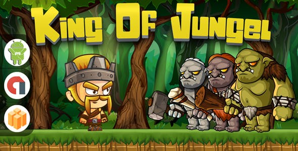 King of jungel - Android studio + AdMob ads ready