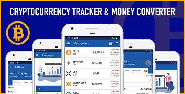 Cryptocurrency Tracker and Currency Converter Android App - CodeCanyon Item for Sale
