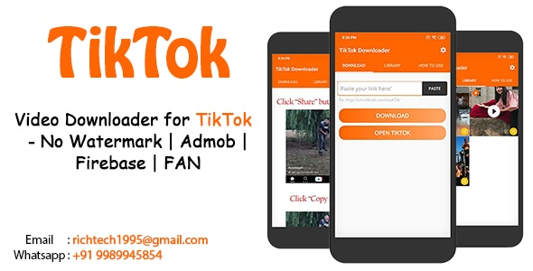 Video Downloader for TikTok - No Watermark - CodeCanyon Item for Sale