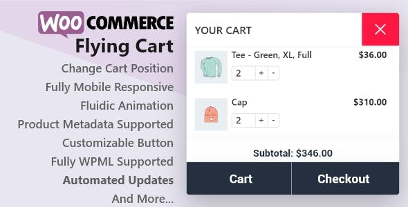 WooCommerce Flying Cart
