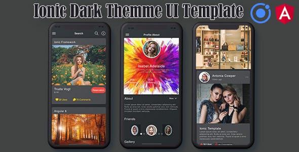 Ionic 5 / Angular 8 UI Theme / Template App | Starter App