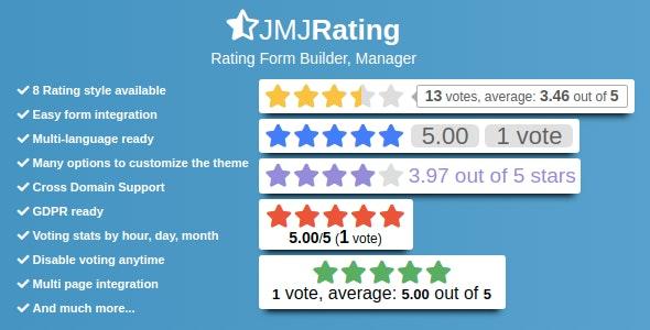 JMJRating: Rating Form Builder, Manager - CodeCanyon Item for Sale