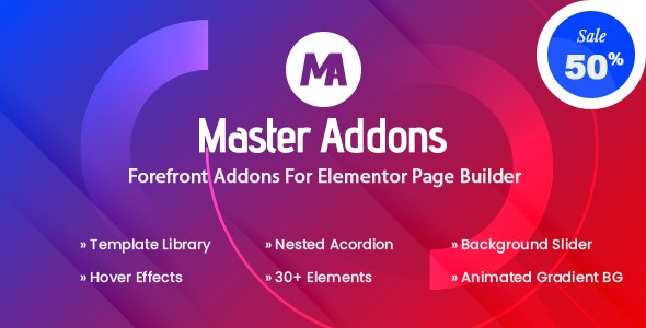 Master Addons - Forefront Addons for Elementor - CodeCanyon Item for Sale