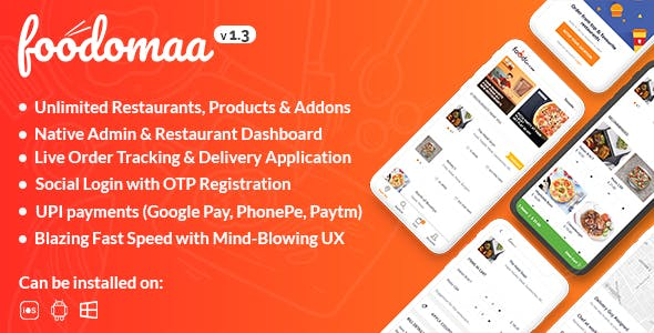 Foodomaa - Multi-restaurant Food Ordering, Restaurant Management and Delivery Application