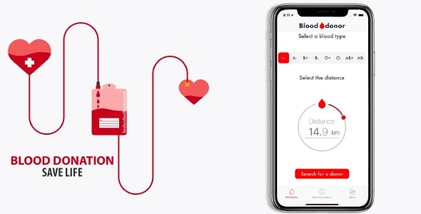 Blood donation (iOS) - CodeCanyon Item for Sale