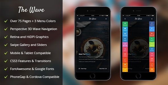 The Wave Mobile | PhoneGap & Cordova Mobile App - CodeCanyon Item for Sale