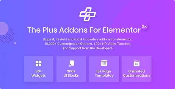 The Plus - Addon for Elementor Page Builder WordPress Plugin
