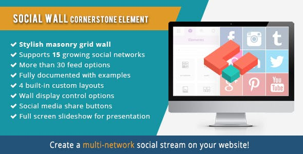 Social Wall element for Cornerstone