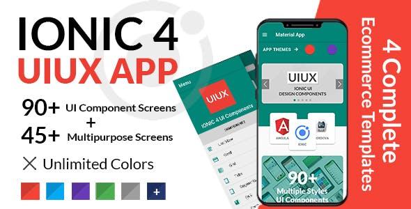UIUX - IONIC 4 UI Design Components | Multipurpose Starter App