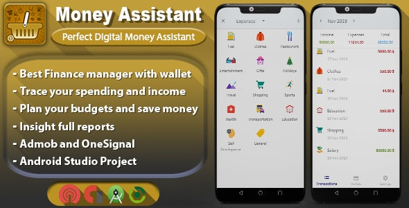 Android Money Assistant - Digital Finance Manager - CodeCanyon Item for Sale