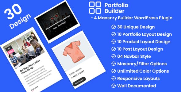 Portfolio - Post/Product/Portfolio Masonry Filter WordPress Plugin