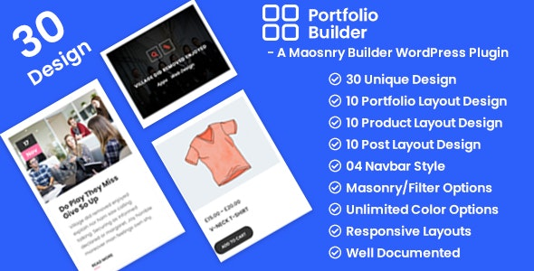 Portfolio - Post/Product/Portfolio Masonry Filter WordPress Plugin - CodeCanyon Item for Sale