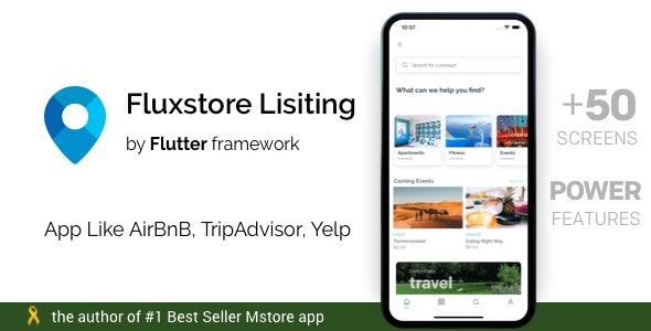 FluxStore Listing - Directory WooCommerce app by Flutter - CodeCanyon Item for Sale