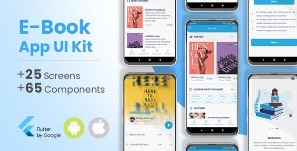 E-Book, Audio Book Flutter App UI Kit