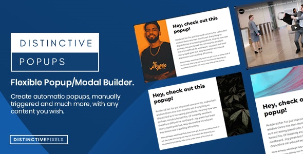 Distinctive Popups - Flexible Popups/Modals WordPress Plugin - CodeCanyon Item for Sale