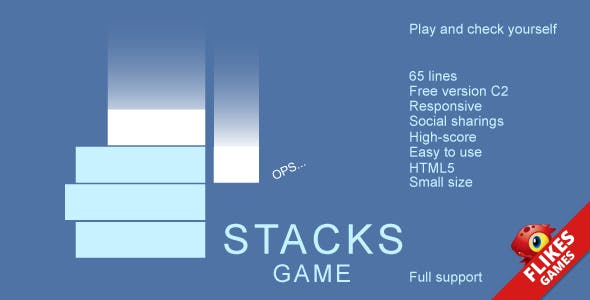Stacks - HTML5 game, .capx, AdSense, mobile control