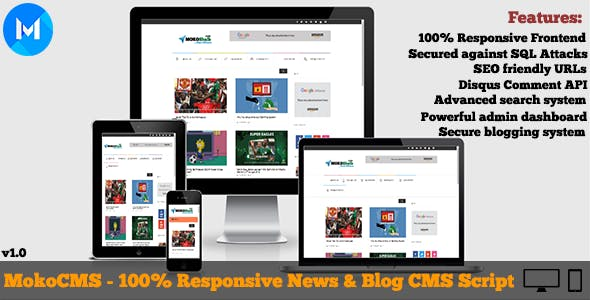 MokoCMS - Responsive News and Blog Portal CMS Script