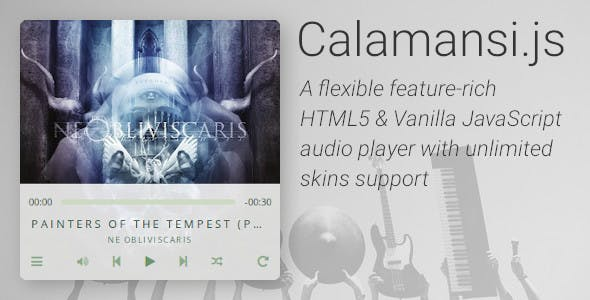 Calamansi.js - Flexible feature-rich HTML5 & Vanilla JS audio player (no jQuery required!)