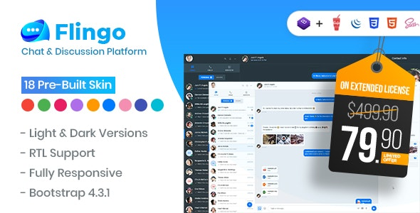 Flingo - Chat & Messaging Platform - CodeCanyon Item for Sale
