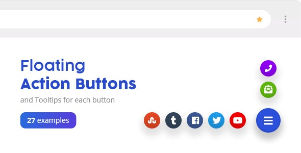 Floating Action Buttons - Pure CSS3 - CodeCanyon Item for Sale