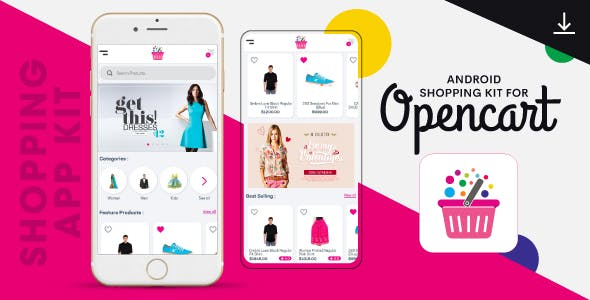 Complete Native Android Shopping App Kit with Opencart