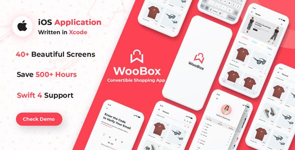 WooBox - WooCommerce iOS App  E-commerce Full Mobile App + Swift 4