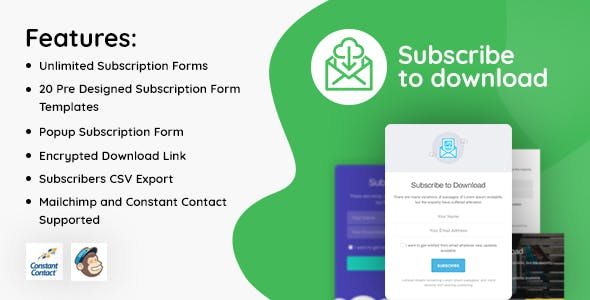 Subscribe to Download - An advanced subscription plugin for WordPress