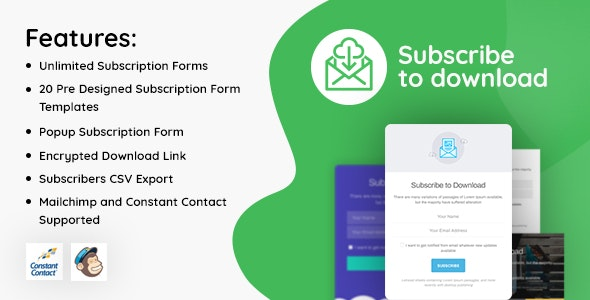 Subscribe to Download v1.2.9 – An advanced subscription plugin for WordPress