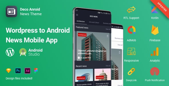 Deco News - Android Mobile App for Wordpress - CodeCanyon Item for Sale