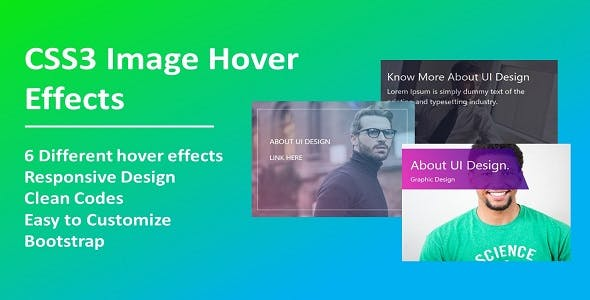 Hover Effects CSS Templates from CodeCanyon