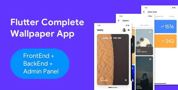 Flutter Wallpaper App - Frontend+ Backend+ Admin Panel (Full App)