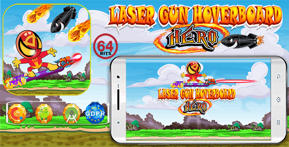 Laser Gun Hoverboar with GDPR+ 64 Bits (Android Studio)- the addition of admob is on demand for free - CodeCanyon Item for Sale