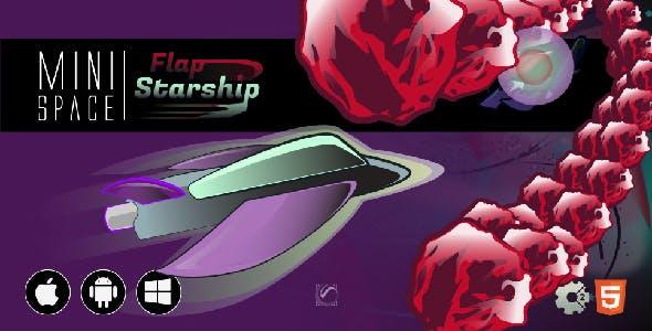 Flap Starship • HTML5 + C2 Game • Mini Space Series