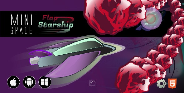 Flap Starship • HTML5 + C2 Game • Mini Space Series - CodeCanyon Item for Sale