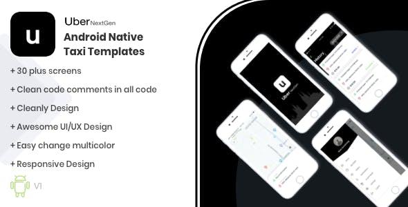 Uber - NextGen Android Native UI Kit Template