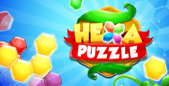 Hexa Puzzle with Admob + IAP (Android + iOS)