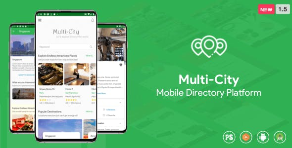 Multi-City ( Directory Android App with Unlimited Cities ) 1.5